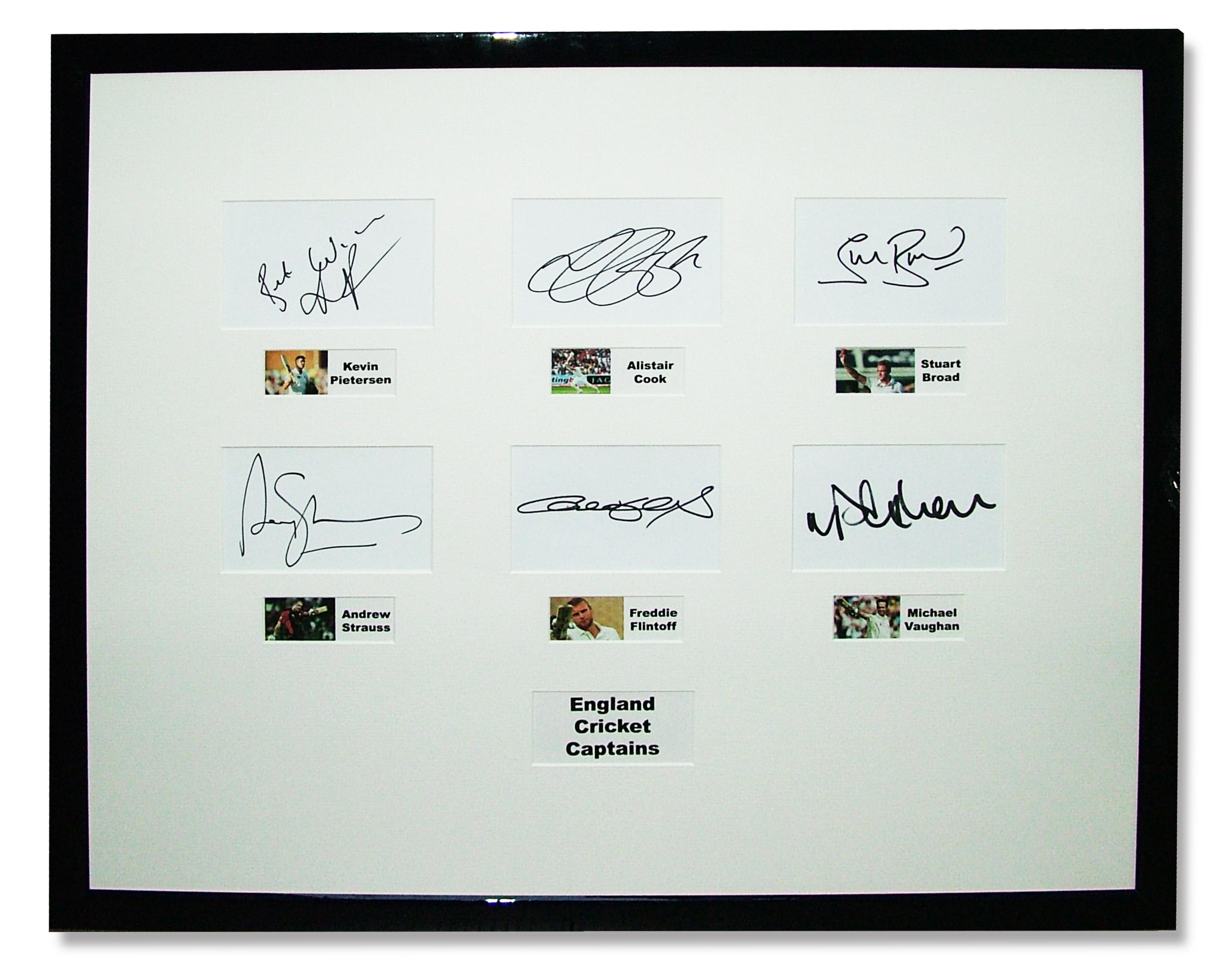england-cricket-captains-autograph-collection
