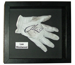 Lee Westwood Glove framed